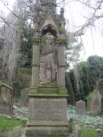 Henry Clasper's Grave in Whickham Churchyard.